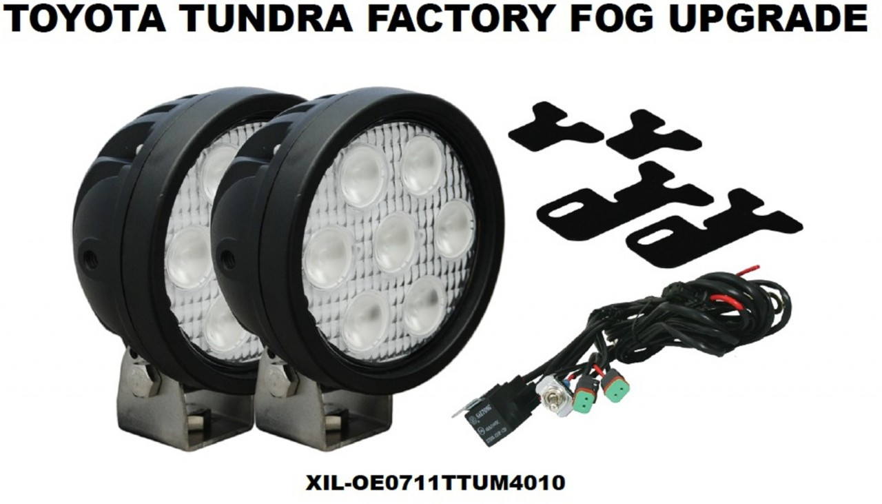 toyota tundra factory fog driving light led upgrade vision x xil. Black Bedroom Furniture Sets. Home Design Ideas