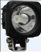 "20° MEDIUM BEAM MIL-OP120 3"" SQUARE OPTIMUS LED SPOT LIGHT STUD MOUNT BLACK HOUSING"