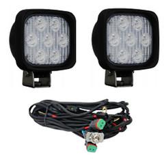 """Vision X XIL-UMX4460KIT 4"""" Square Utility Market Xtreme LED Work Light KIT (60 Degrees)"""