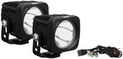 Black Optimus LED 20 Degree Beam Light Kit - Two Lights and an Install Kit - XIL-OP120KIT