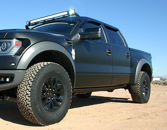 roof mount for ford raptor holds vision x led light bars. Black Bedroom Furniture Sets. Home Design Ideas