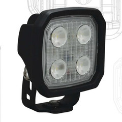 White Housings, 40° Duralux 2000 Lumen 20 Watt LED Flood Light.