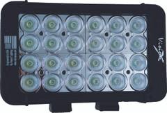 """8"""" XMITTER PRIME DOUBLE STACK LED BAR BLACK TWENTY FOUR 3-WATT LED'S 30ºX65º DEGREE ELLIPTICAL BEAM. Vision X XIL-P2.12e3065"""