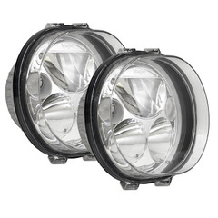 "TWO 5.75"" OVAL VORTEX LED HEADLIGHT W/ LOW-HIGH-HALO"