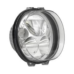 "SINGLE 5.75"" OVAL VORTEX LED HEADLIGHT W/ LOW-HIGH-HALO"