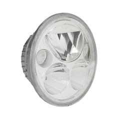 "SINGLE 5.75"" ROUND VORTEX LED HEADLIGHT W/ LOW-HIGH-HALO"