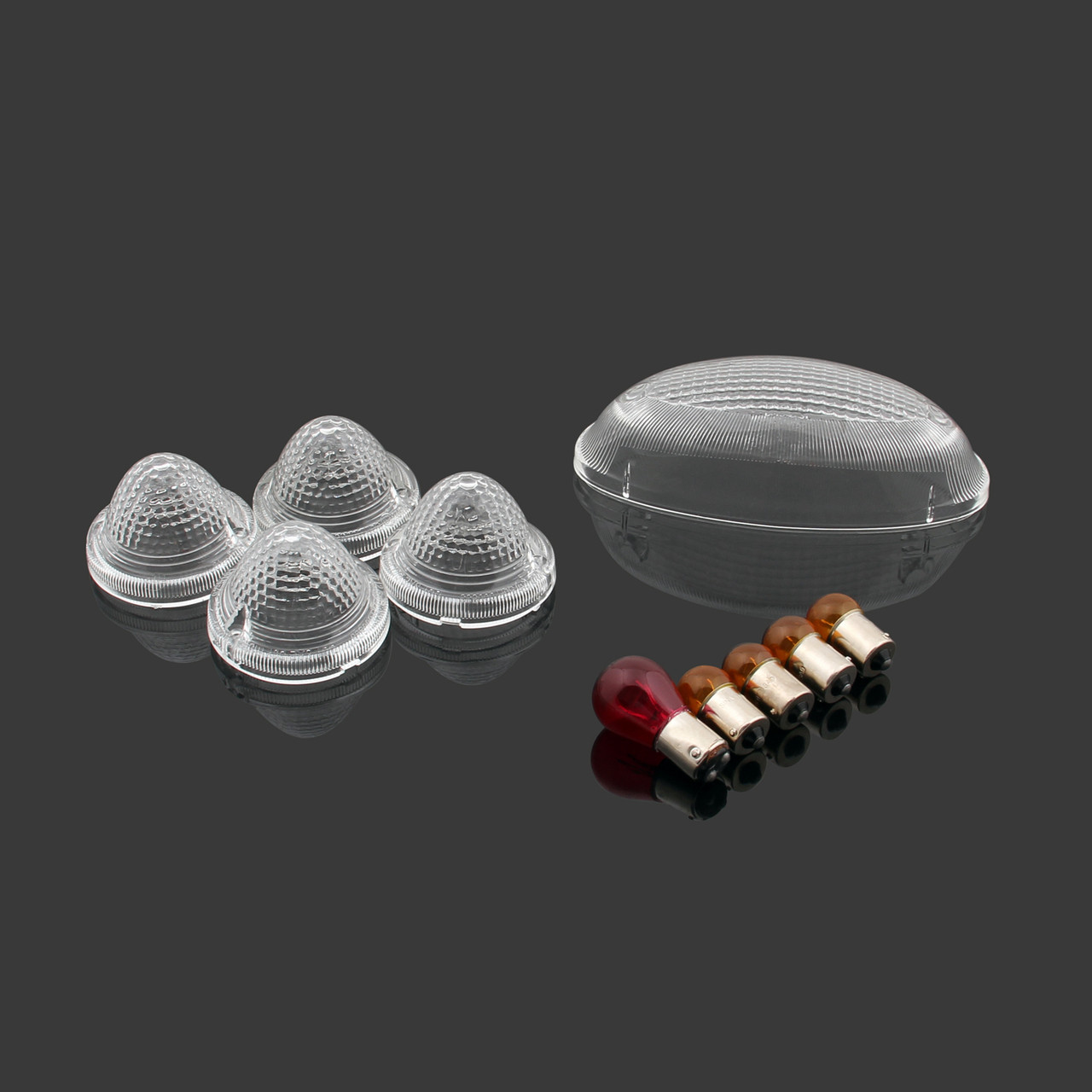 TailLight Turn Signals Indicators Lens Bulbs Set Triumph Bonneville SE T100, Clear