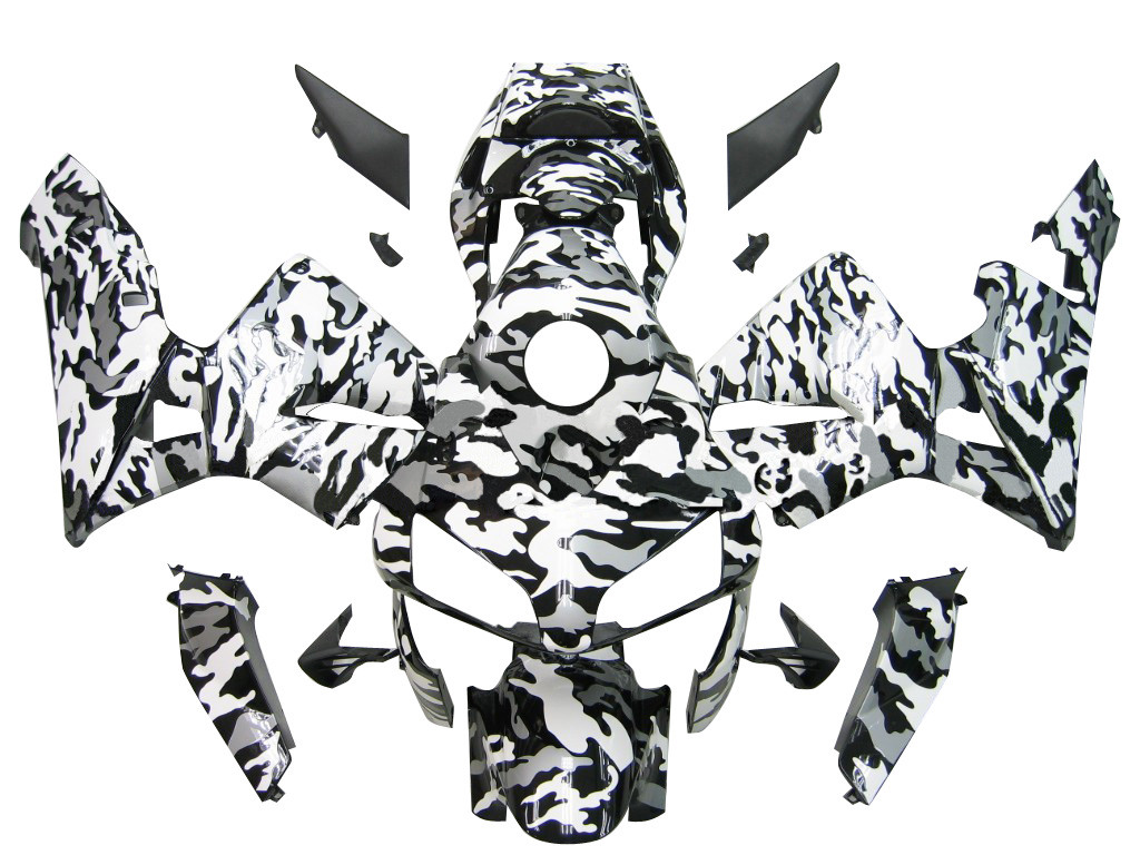 Fairings Honda CBR 600 RR Blk Wht Silver Camouflage Racing