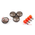 4PCs Turn Signal Light Lens Cover + Bulbs For Harley XL 883 48 Sportster, Gunmetal
