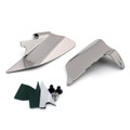 Saddle Shield Heat Deflector For Harley FLT/FLHT/FLHX/FLHR/FLTR (97-07) Chrome (M201-003-Chrome)