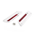 Left& Right Side Saddlebag Latch Plate For Harley Touring Models (93-13) Chrome (M502-004-Chrome)