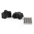 "7/8"" 22mm Aluminum HandleBar Riser Mount Clamps For Kawasaki Z250 BLK"