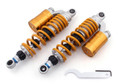 Twin Rear Shock Absorber Adjustable for Honda CB 400 SF Superfour (92-98) CB400 VTEC (99-11) Gold