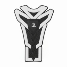3D Oil Gas Fuel Tank Protector Sticker Decal For Suzuki Yamaha, White (Pad-043-M-White)