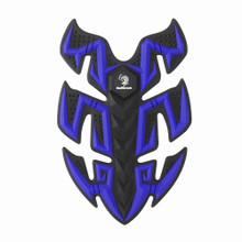 Rubber Sport Bike Gas Oil Tank Pad Protector Fish Bone Sticker, Blue (Pad-045-M-Blue)