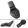 Leather Driver & Passenger Seat 2-up For Honda Shadow VLX 600/VT600 (1988-1993) Black