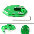 Kickstand Side Plate Stand Extension Pad For Kawasaki Z650 Z900 (17-18)VERSYS650 (07-09) Z1000/SX (10-17) Green
