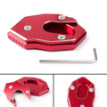 Kickstand Side Plate Stand Extension Pad For Kawasaki ZX6R (09-17) Z800 (13-16) ER6N ZX-10R ER6F NINJA650R (12-17) Red