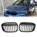 1Pair Front Bumper Kidney Grill Grille For BMW F48 F49 X1 (2016+) Matte Black