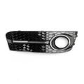 Bumper Grills Right Fog Light Grilles Cover for Audi A4 B8 (2009-2011) Black
