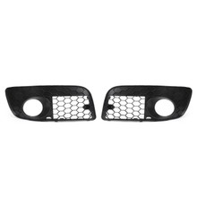 Pair Front Bumper Fog Lamp Lights Grill Grille For Volkswagen GOLF MK5 GTI (2006-2008)