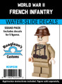 World War II French Infantry- Squad Pack- Water-Slide Decals