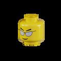 Genuine LEGO® Head with Silver Sunglasses