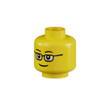 Genuine LEGO® Head with Glasses