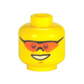 Genuine LEGO® Head with Orange Sunglasses