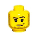 Genuine LEGO® Head with Stubble
