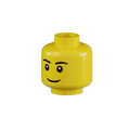 Genuine LEGO® Head with Grin and Eyebrows