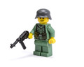 WWII German Soldier with MP40 - Sand Green