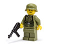WWII German Soldier with MP40 - Olive Green