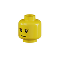 Genuine LEGO® Head with Lines on Cheeks
