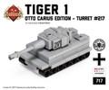 Micro Brick Battle - Tiger I  - Turret 217 Otto Carius Micro-tank