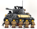 Battle Damaged Sherman M4A3E8 Tank w/crew