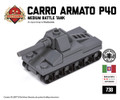 Micro Brick Battle - Carro Armato P40