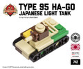"Micro Brick Battle - Type 95 ""Ha-Go"" Light Tank"