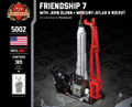 Friendship 7 (With John Glenn & Mercury-Atlas 6 rocket)