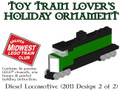 GMLTC Green Locomotive Holiday Ornament