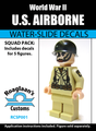 World War II US Airborne Squad Pack - Water-Slide Decals
