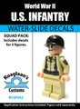 World War II US Infantry Squad Pack - Water-Slide Decals