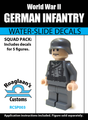 World War II German Infantry Squad Pack - Water-Slide Decals