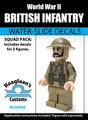 World War II British Infantry Squad Pack - Water-Slide Decals