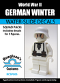 World War II German Winter Cammo Squad Pack - Water-Slide Decals