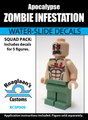 Zombie Infestation Squad Pack - Water-Slide Decals