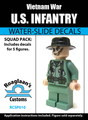 Vietnam War US Infantry Squad Pack - Water-Slide Decals