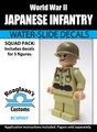 World War II Japanese Infantry Squad Pack - Water-Slide Decals
