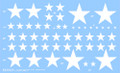 US Vehicle Stars #2 - Dry Transfer Decals