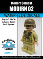 Modern Soldier 02 - Water-Slide Decals